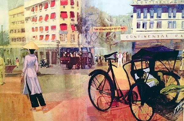 In tranh Sài Gòn xưa